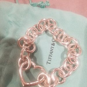 Tiffany & co open heart link bracelet